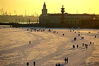Russia _ St Petersburg _ Sunday Walk on the Frozen Neva