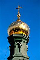 Russia _ Valaam Island _ Gold Dome of Jerusalem Church