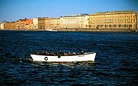 Russia _ St Petersburg _ The Neva _ Palace Wharf