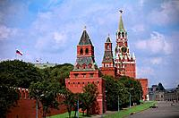 Russia _ Moscow _ Kremlin Wall _ Clock Tower