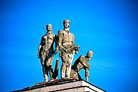 Russia _ Moscow _ Statue of Red Army Soldiers