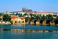 Czechoslovakia _ Praha _ St Charles Bridge _ Royal Castle _ St Guy