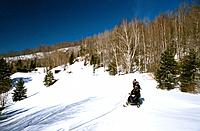 Canada _ Quebec _ The Laurentides _ Mont Tremblant _Skidoo