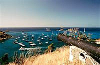French Caribbean _ Caribbean Islands _ Saint Barthelemy _ Gustavia _ View from the Gustave Fortress