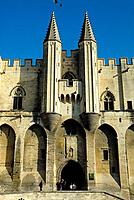 Popes Palace (14th century), Avignon. Provence, France