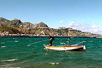 Italy _ Sicily _ Giardini Naxos _ View on Taormina