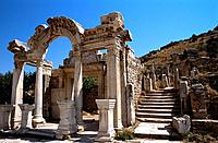 Turkey _ Mediterranean Coast _ Izmir Region _ Selcuk _ Epheze _ The Hadrian Temple