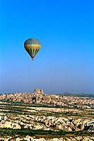 Turkey _ Cappadoce _ Uchisar,Goereme and Ortahisar Region _ Air view