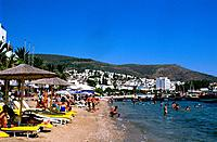 Turkey _ Mediterranean Coast _ Mugla Region _ Bodrum _ View on the Beach