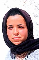 Tunisia _ The South _ Jebel Dahar Region _ Face of a Tunisian woman