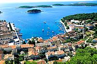 Croatia _ Ile de Hvar _ Hvar _ Vue de la forteresse Napol&#233;on