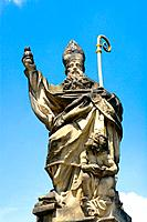 Czech Republic - Prague - Mala Strana Prague 1 District - Charles Bridge Karluv Most - Statue (thumbnail)