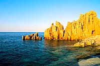 Italy _ Sardinia _ East Coast Region _ Orosei Gulf _ Arbatax _ Red granite boulders