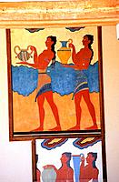 Greece - Crete - Knossos - Minoens Site - Fresco (thumbnail)