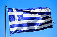 Greece _ Crete _ Greek flag