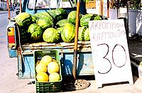 Greece _ Crete _ Hania _ Watermelons