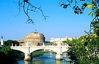 Italy _ Rome _ Vittorio Emanuele II Bridge and Sant' Angelo castle