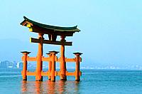 Japan _ The west of Honshu _ Hiroshima _ Miyajima Island _ The grand Torii