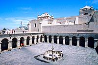 Peru _ Arequipa _ The cloister of Compañia