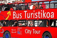 City tour bus, Bilbao. Biscay, Euskadi, Spain