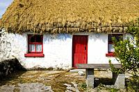 Traditional Irish cottage with thatched roof. Inishmore. Aran Islands. Galway Co. Ireland