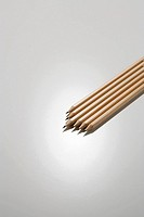 Wooden pencils on a white background (thumbnail)