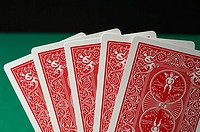 Five playing cards