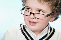 Portrait of a boy wearing eyeglasses