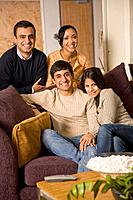 Multi_ethnic family posing