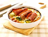 Ham and leek clafoutis