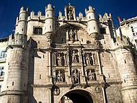 Puerta de Santa María, gate of the old town. Burgos. Spain