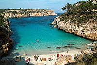 Caló des Moro. Majorca, Santanyi, Cala s´Almunia. Spain