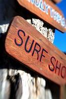 Surf shop sign