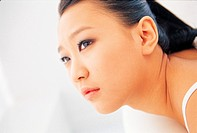 Close_up of Korean Young Woman\´s Face
