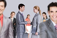 Close_up of business people handshaking