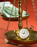 Scale,Pocket Watch,Banknote