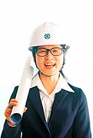 Businesswoman in a Hard Hat