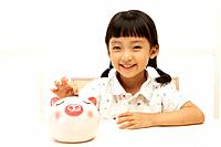 Girl with Piggybank,Korea