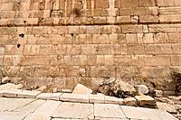 Israel Jerusalem Archaeological Park the Herodian Street next to the southern section of the Western Wall