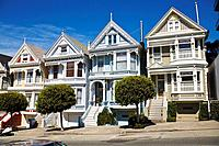 Painted Ladies, Victorian houses, San Francisco, California, USA