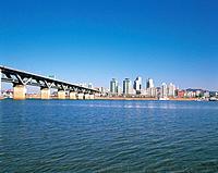 Cheongdamdaegyo Bridge,Gwangjin_gu,Hangang River,Seoul,Korea