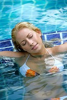 woman, young, pools, relaxation, relaxation,