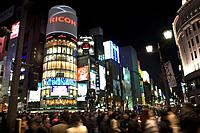 Japan, Tokyo, Ginza, 4_chome_crossing, San_ai Building, streets, crowd, blur, series, Asia, East_Asia, Honshu, city, city, metropolis, skyscrapers, bu...