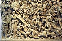 Italy, Rome, sarcophagus of Portonaccio, Palazzo Massimo, close_up, detail,