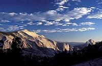 The Yosemite National Park seen from Olmsted Point at sunset California USA