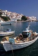 Port of Hora, fishing boats, Skopelos, Sporades, Greece