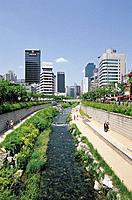 Cheonggyecheon Stream,Seoul,Korea