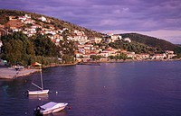Afyssos, view, boats, Pelion, Thessaly, Greece
