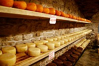 Cheese counter , Greve in Chianti, Tuscany, Italy, Europe