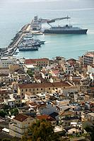 Greece, Ionic islands, island zakynthos, Zakynthos city, city_overview, harbor, ships, Europe, destination, Mediterranean, Mediterranean_island, islan...
